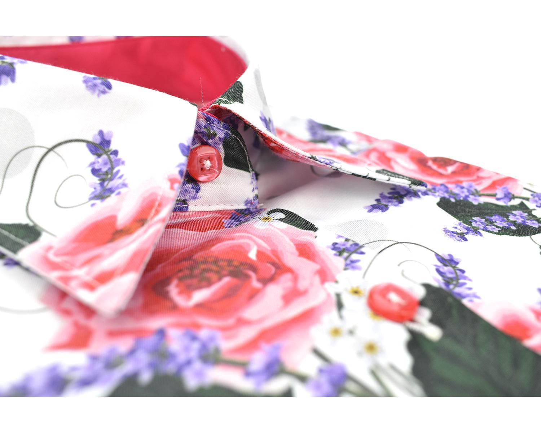 2822558d0c6 LL 3280 Valge lilleline triiksärk - Kvaliteetsed triiksärgid