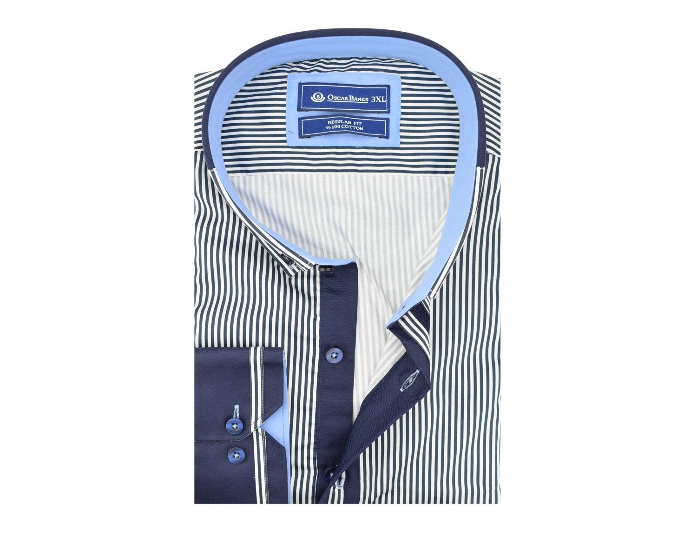 b1bddde3993 ... SL 524 Must triibuline nööpidega krae puuvillane triiksärk Meeste  triiksärgid ...