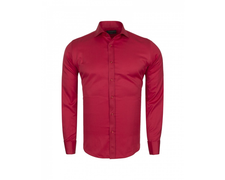 91b31c47d63 ... SL 6111 Punane ühevärviline topeltmansetiga triiksärk itaalia kraega  Meeste triiksärgid ...
