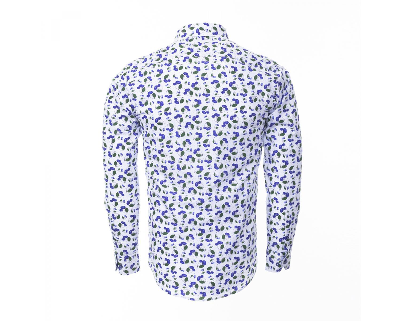 8e024623c64 SL 6304 Valge siniste kirssidega triiksärk - Kvaliteetsed triiksärgid