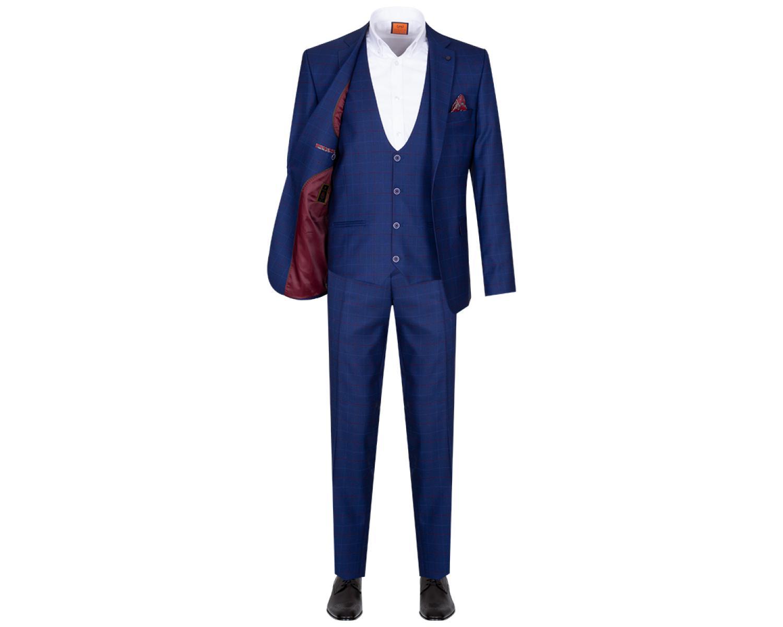 ec0a966abfd SU 159 3-osaline sinine ruuduline ülikond - Kvaliteetsed triiksärgid